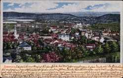 Postcard Ilmenau im Ilm Kreis Thüringen, Panorama der Stadt, Seidenimitat
