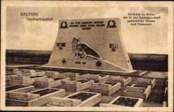 Postcard Bautzen in der Lausitz, Taucherfriedhof, Denkmal zu Ehren Kriegsgefangener