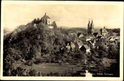 Postcard Gößweinstein im Kreis Forchheim Oberfranken, Totalansicht, Burg, Ort