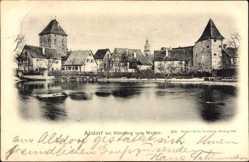 Postcard Altdorf bei Nürnberg Mittelfranken, Blick vom Weiher aus, Türme