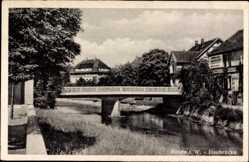 Postcard Bünde im Kreis Herford, Elsebrücke, Flusspartie