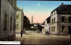 Postcard Germersheim, Blick in die Lilienstraße, Soldaten