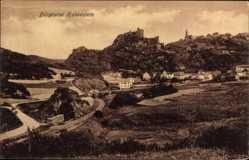 Postcard Bad Schwalbach Hessen, Blick zur Burgruine Hohenstein