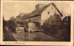 Postcard Durlach Karlsruhe in Baden Württemberg, Mittelmühle, Wassermühle