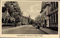 Postcard Leopoldshall Staßfurt im Salzlandkreis, Hauptmann Loeper Straße