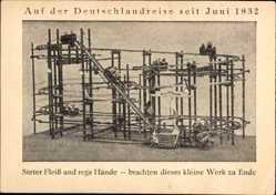 Ak Deutschlandreise seit Juni 1932, Spielzeugachterbahn, Erich Scholze