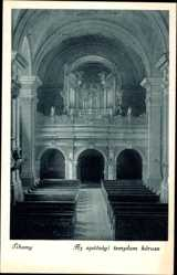 Ak Tihany Ungarn, Innenansicht der Kirche, Templom korusa, Orgel