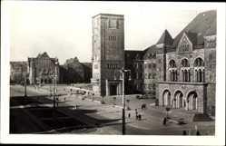 Ak Poznań Posen, Ul. Czerwonej Armii, Straßenpartie mit Blick auf Kirche