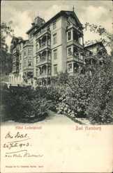 Ak Bad Harzburg in Niedersachsen, Blick auf Hotel Ludwigslust mit Garten