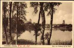 Postcard Parchim in Mecklenburg Vorpommern, Blick vom Eichberg auf die Stadt