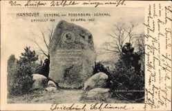 Postcard Hannover in Niedersachsen, General von Rosenberg Denkmal, Enthüllung 1902