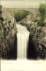 Postcard Trollhättan Schweden, polhems Sluss, Brücke, Wasserfall, Fluss
