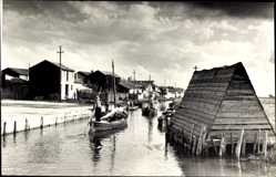 Postcard Valencia Stadt Spanien, Canal de la Albufera, Holzhütte, Boote, Häuser