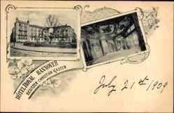 Postcard Hannover in Niedersachsen, Hotel Royal, Christian Kasten, Innenansicht