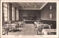 Postcard Viersen, Hauptbahnhof, Innenansicht, Wartesaal, 1. und  2. Klasse
