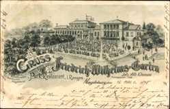 Litho Magdeburg, Friedrich Wilhelmsgarten, Parkrestaurant, Inh. A. Kleinau