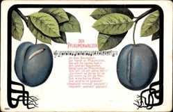 Lied Ak Der Pflaumenwalzer, An dem Bäumen da hängt en Pfläumchen