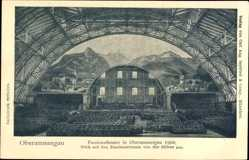 Ak Oberammergau in Oberbayern, Passionstheater um 1900, Zuschauerraum