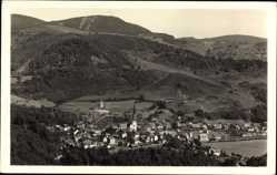 Postcard Schönau Schwarzwald, Luftkurort, Stadtpanorama, Berge, Waldhang
