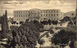 Postcard Athen Griechenland, Palais Royal, Königlicher Palast
