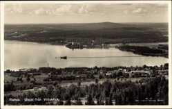 Postcard Rättvik Schweden, Utsikt fran Vidablick, Totale, See