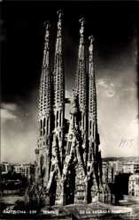 Postcard Barcelona Katalonien, Templo de la Sagrada Familia