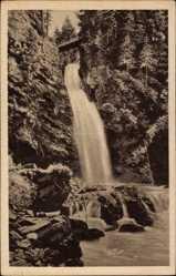 Ak Międzygórze Wölfelsgrund Schlesien, Wölfelsfall, Wasserfall, Glatzer Land