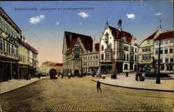 Ak Nordhausen an der Zorge Thüringen, Kornmarkt mit Sparkassengebäude