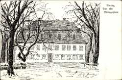 Künstler Ak Niesky in der Oberlausitz, Blick auf das alte Pädagogium