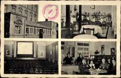 Postcard Ueckermünde in Mecklenburg Vorpommern, Lichtspiele Hohenzollern, Hotel