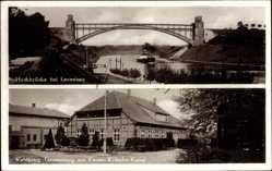 Postcard Levensau Neuwittenbek in Schleswig Holstein, Hochbrücke, Waldkrug Tannenberg