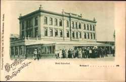 Postcard Insel Borkum im Kreis Leer, Blick auf das Hotel Kaiserhof, Fassade