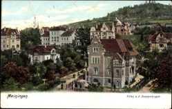 Postcard Meiningen in Südthüringen, Blick auf Villen an der Donopskuppe