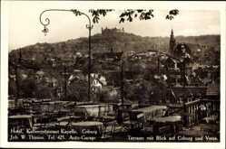Postcard Coburg in Oberfranken, Hotel Kapelle, W. Thinius, Blick auf Ort und Veste