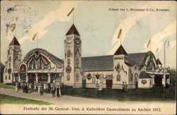 Ak Aachen in Nordrhein Westfalen, Festhalle d. 59. General Vers. d. Katholiken