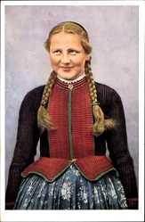 Ak Hessische Trachten Nr. 291, Schlitzer Mädchen, Portrait, Hessen