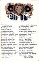 Lied Ak Die Uhr, Gabriel Seidl, Carl Löwe, Ich trage, wo ich gehe,stets eine Uhr