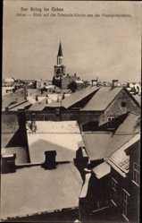 Postcard Jelgava Mitau Lettland, Blick auf die Trinitatiskirche, Winter