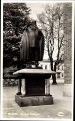Postcard Västeras Schweden, Johannes Rudbeckius, Denkmal