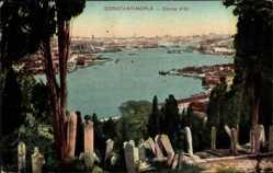 Postcard Konstantinopel Istanbul Türkei, Corne d'Or, Goldener Winkel