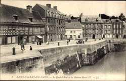 Ak Saint Valéry en Caux Seine Maritime, Quai d'Aval, Maison Henri IV.