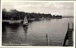 Ak Dziwnów Ostseebad Dievenow Pommern, Boddenpartie, Segelboot