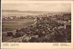 Postcard Haifa Israel, Gesamtansicht der Ortschaft, Wiesen, Bäume
