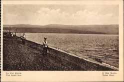 Postcard Israel, Das tote Meer, Strand, Dead Sea, Bauern