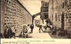 Postcard Jerusalem Israel, Second Station, Seconde Station, Stazione Seconda