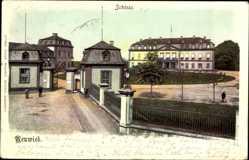 Ak Neuwied in Rheinland Pfalz, Blick auf das Schloss, Eingangstor