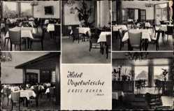 Postcard Gross Reken in Westfalen, Hotel Vogelwiesche, Innenansicht, Restaurant