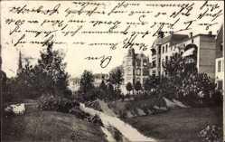 Postcard Magdeburg Wilhelmstadt in Sachsen Anhalt, Partie in der Goethestraße