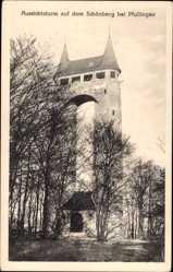 Postcard Pfullingen in der Schäwbischen, Blick auf den Aussichtsturm auf dem Schönberg