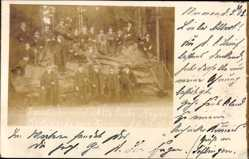 Foto Ak Martinroda Thüringen, Semesterbummel, alte Eiche, Heyda, 29.10.1903